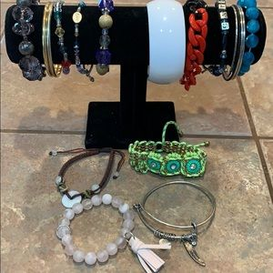18 bracelet bangle lot bundle tassel Monet corded
